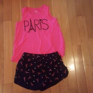 Paris 2 piece Justice Sleeveless Top and Shorts